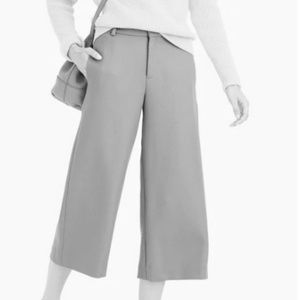 J. Crew Pants - J. Crew Gray Double-Serge Wool Culotte Pants